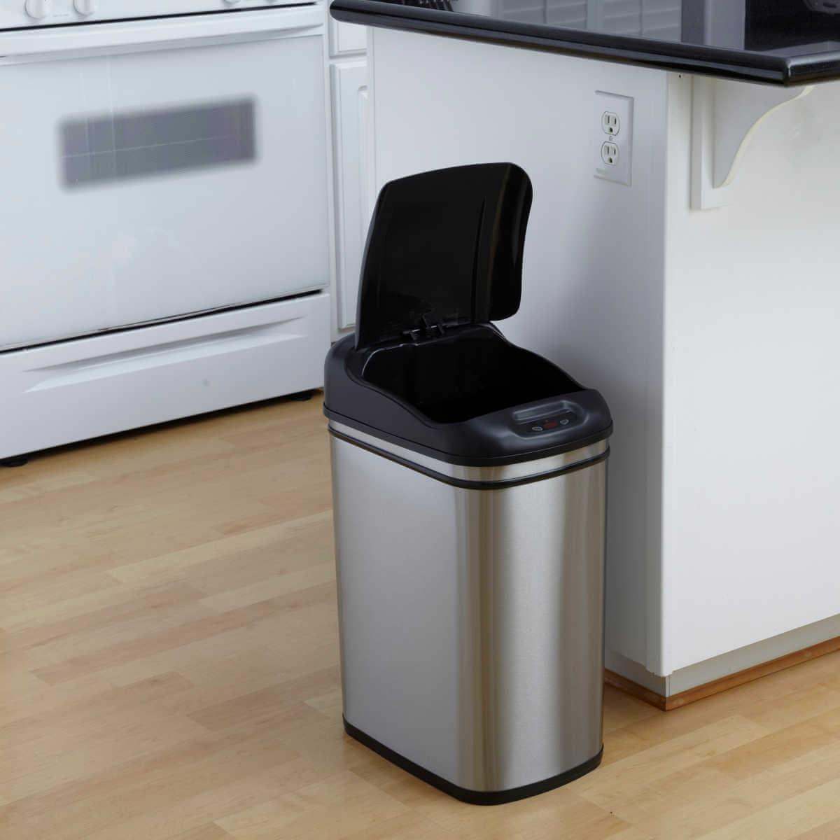 Kosz na śmieci DZT-30-1 30l bezdotykowy automatyczny prostokąt