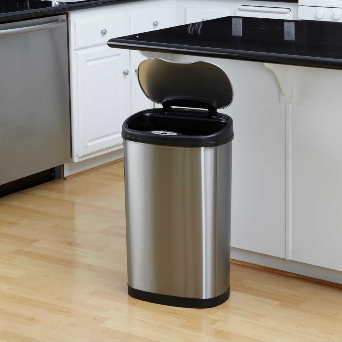 Kosz na śmieci DZT-50-13 50l bezdotykowy automatyczny owal