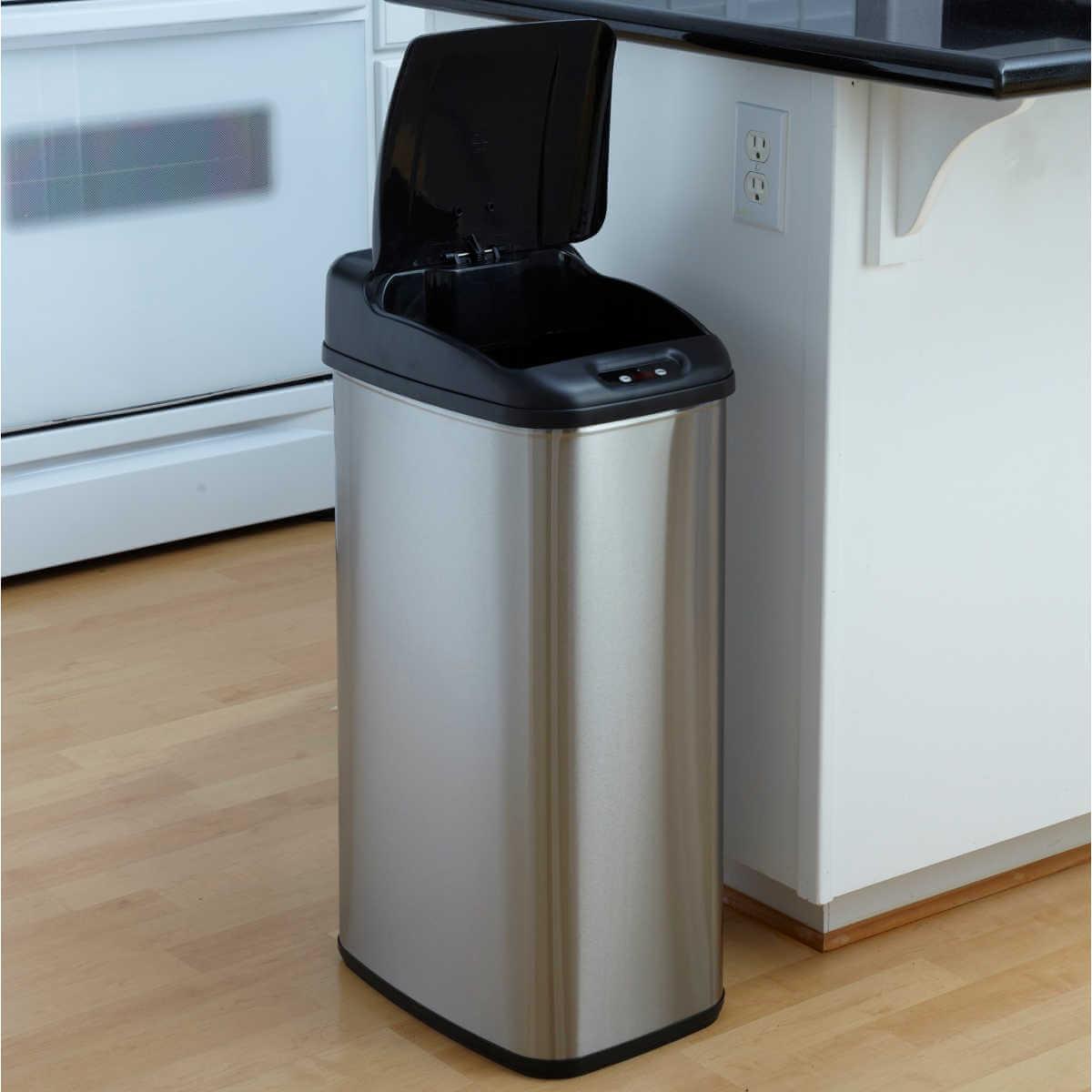 Kosz na śmieci DZT-50-6 50l bezdotykowy automatyczny prostokąt