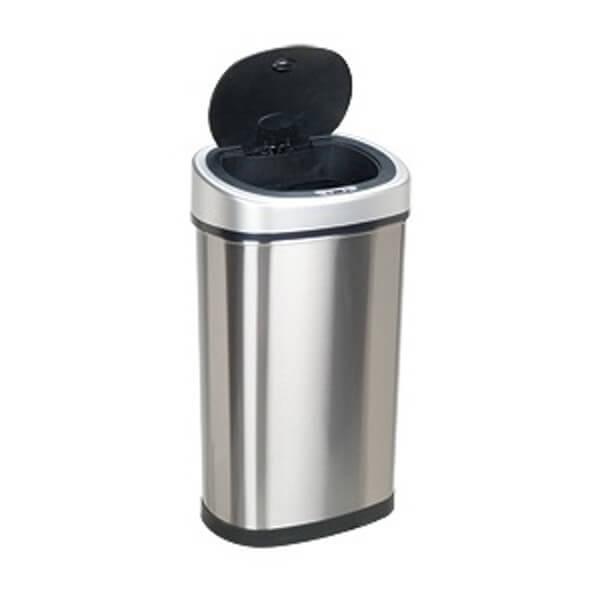 Kosz na śmieci DZT-50-9 50l bezdotykowy automatyczny owal