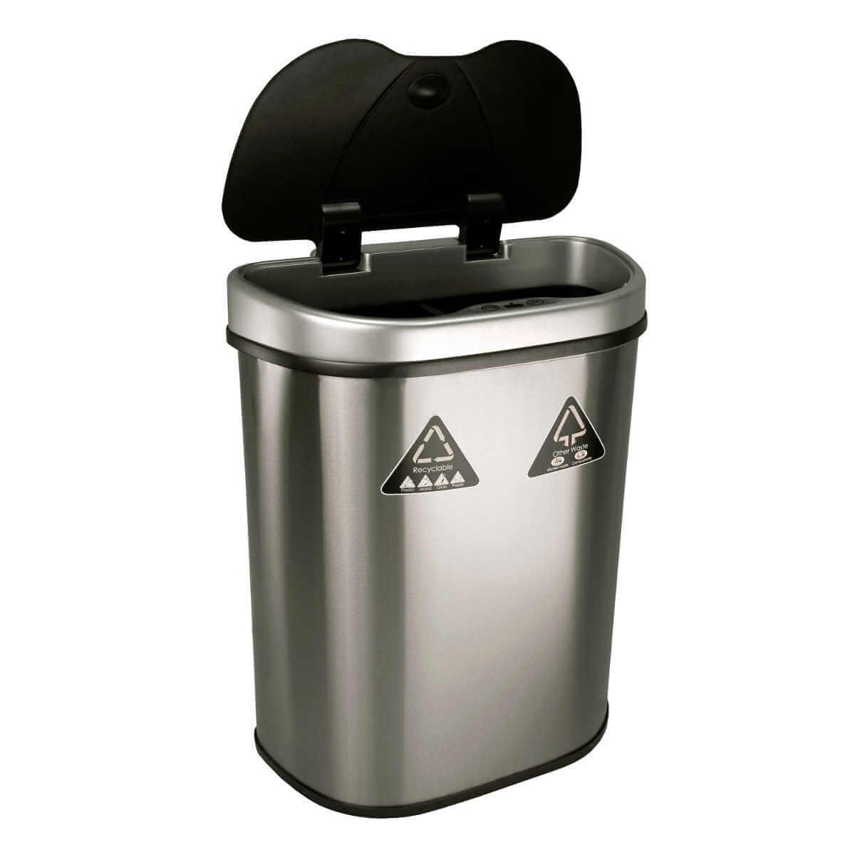 Kosz na śmieci DZT-70-11R 70l bezdotykowy automatyczny recykling